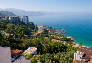 Beautiful structures and beaches of Puerto Vallarta from Krystal International Vacation Club